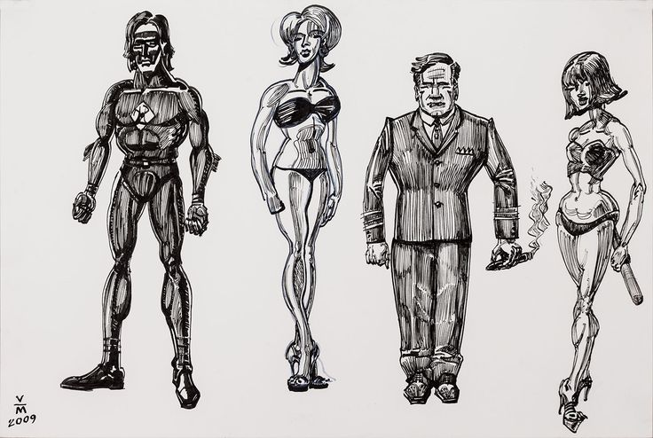 Character studies for ICE, a hero's story. #vincemancuso #art #drawing #design
