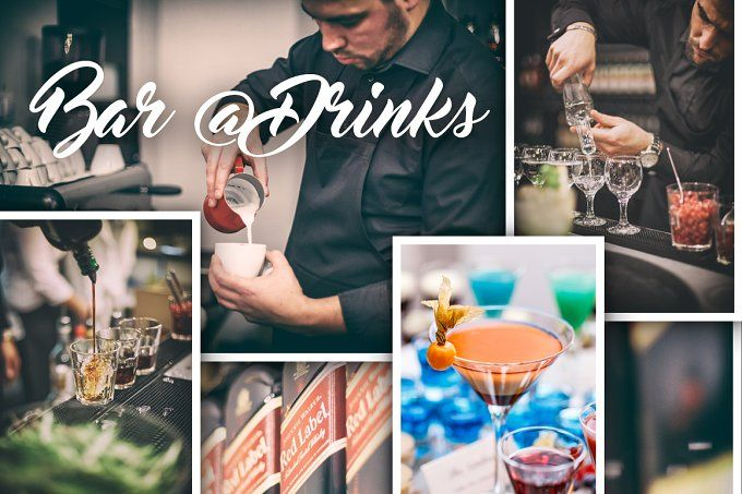 Bar @ Drink by Grafvision photography on @creativemarket