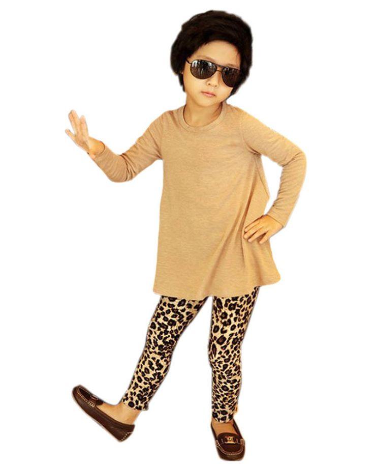 Новый Дети Девочки Леггинсы Мода Leopard Печати Детей Брюки Дети Осень-Зима Одежда Теплые Брюки Для 1-5Y WY01