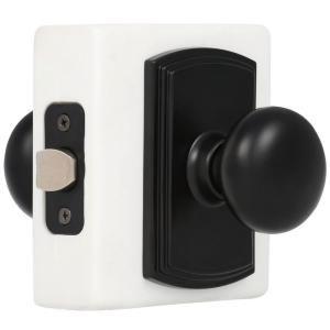 Interior door knobs (on white doors w/black hinges)