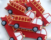 Firetruck Sugar Cookies I could totally make these