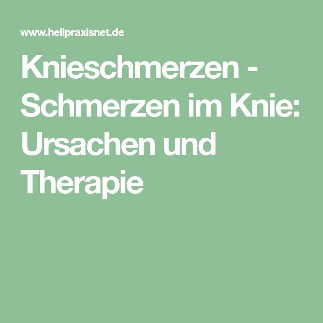 Knieschmerzen - Schmerzen im Knie: Ursachen und Therapie