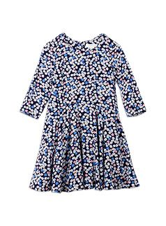 Girlswear Floral Skater Dress Eclipse -