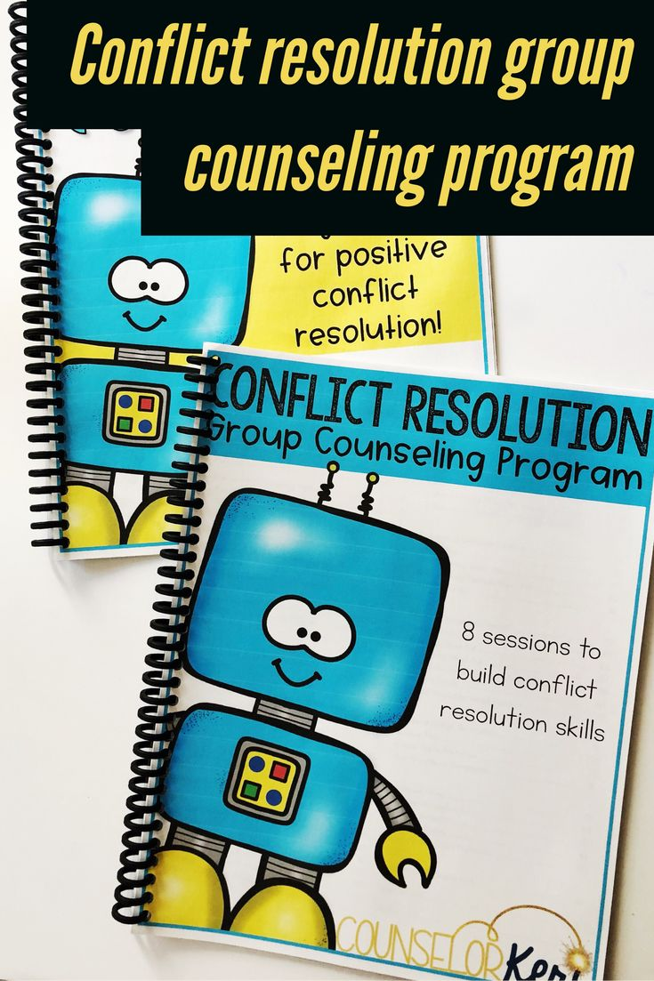 This elementary school small group counseling program promotes positive conflict resolution skills! Teach your students how to positively resolve conflicts with these fun conflict resolution activities! These lessons can be used for small group counseling or classroom guidance lessons! #conflictresolution #counselorkeri #groupcounseling