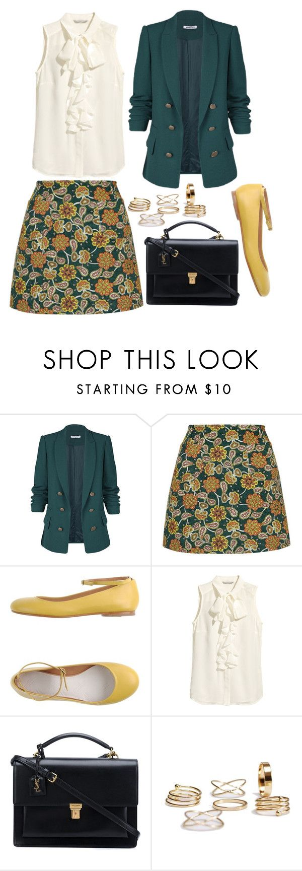 """""""I don't love you and I never did"""" by pageslearntothink on Polyvore featuring Motel, Maison Margiela, H&M and Yves Saint Laurent"""