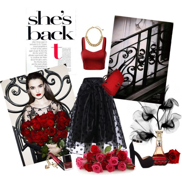 Black And Red Elegance by miqua on Polyvore featuring Mode, J.TOMSON, Chanel, Kate Spade, Juicy Couture and M.A.C