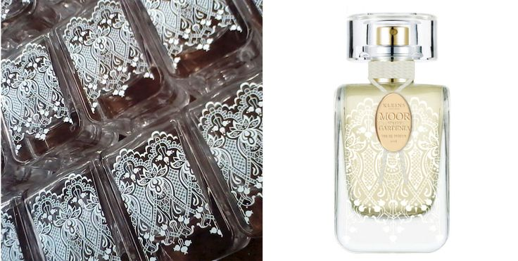 This has got to be my absolute favourite product that we print here.    Most of the time we print brands on products, or instructional information (like on switches and dials).  The print on this customer's perfume bottles (there are another five in their range) is purely decorative.  This gorgeous lace print highlights how accurate and detailed pad printing can be.  Just another way you can utilise pad printing to enhance your products!