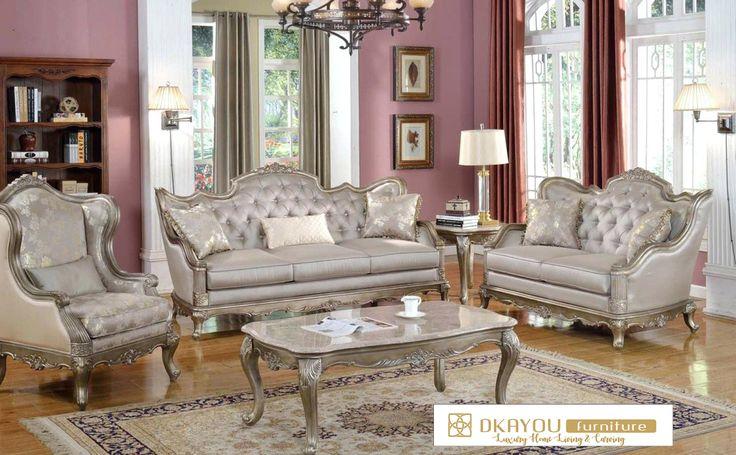 Set Kursi Sofa Ruang Tamu Jepara Mewah Vintage Terbaru