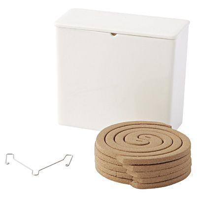 蚊取り線香セット 10巻・磁器容器付 / muji