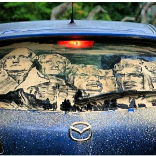 Best Dirty Car Art Images On Pinterest Window Art Art - Scott wade makes wonderful art dusty car windows