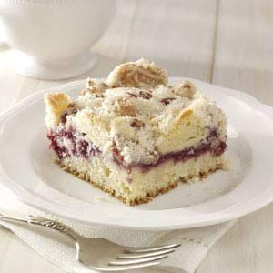 Raspberry Streusel Coffee Cake Recipe from Taste of Home -- shared by Amy Mitchell of Sabetha, Kansas