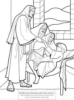 jesus healing jairus daughter coloring page