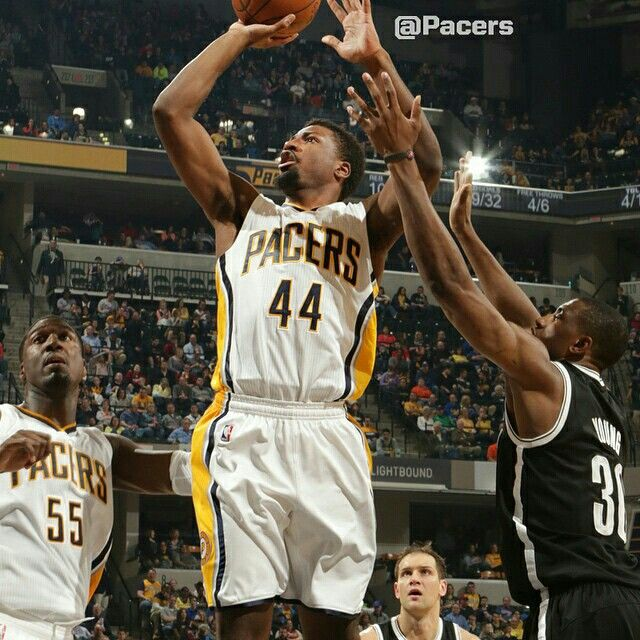 The #Pacers hung close, but couldn't keep pace with the hot-shooting Nets. @IndianaGeorge3 led the team with 18 points. @SoloHill and Luis Scola added 17 points apiece.  Final: Nets 123, Pacers 111