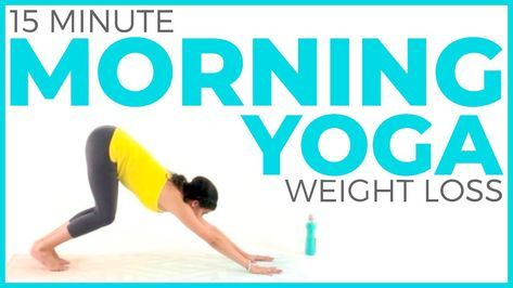 15 minute morning yoga for weight loss 🔥 fat burning yoga
