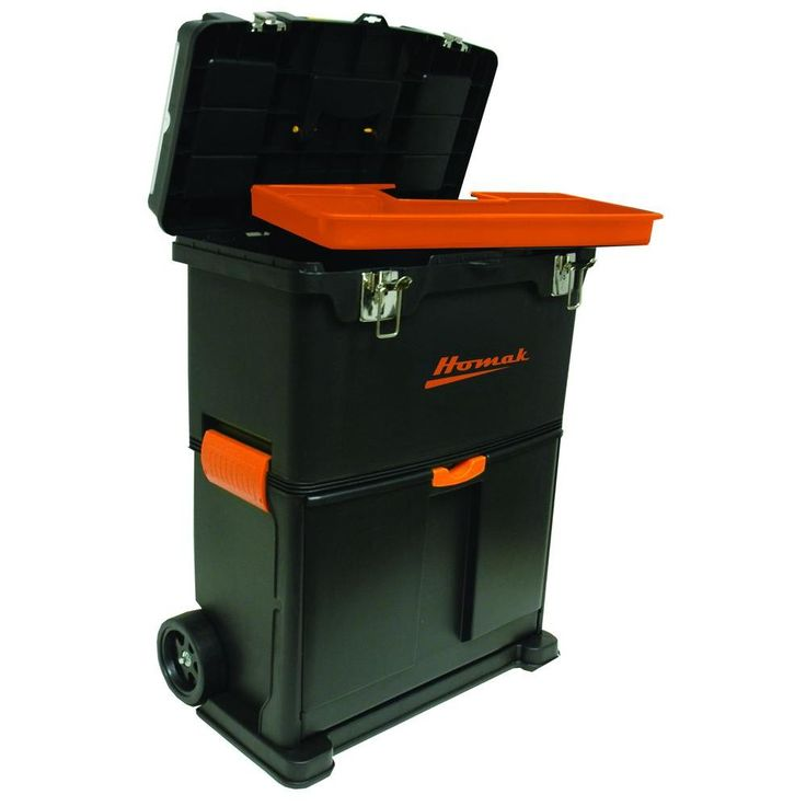rolling tool box with metal latch 2piece per box