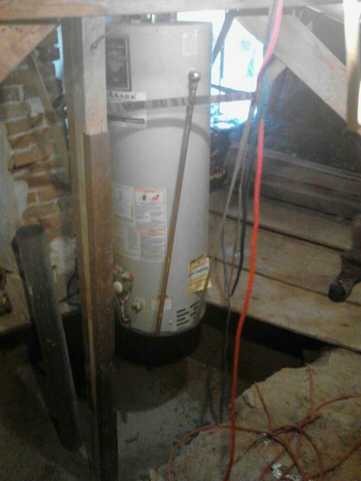 Floating water heater