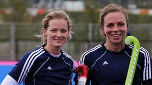 Helen Richardson and Kate Walsh (Great Britain) hockey players.
