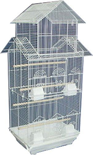 Large Tall Pagoda Roof Top Canary Parakeet Cockatiel LoveBird Finch Bird Cages…