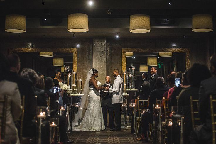 """Bride and Groom say """"I do""""   Proximity Hotel   Greensboro, NC"""