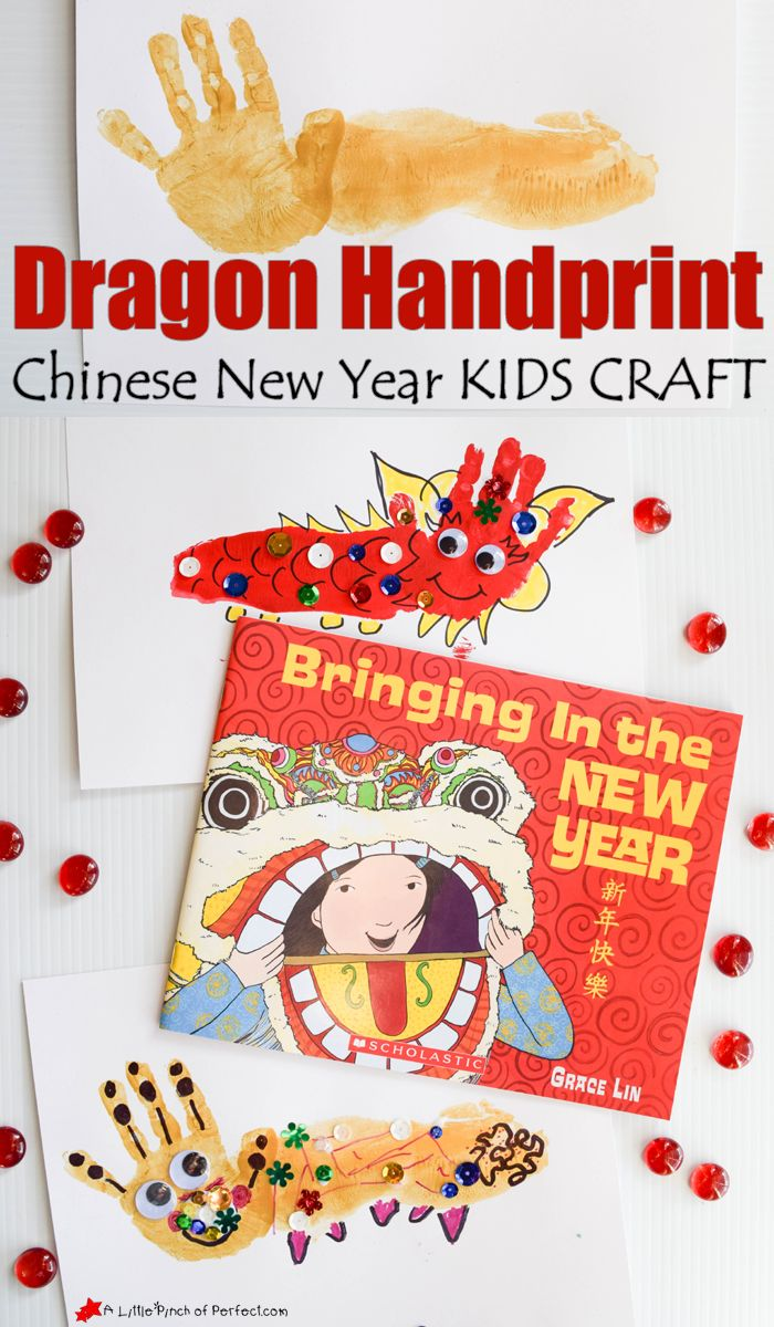 Lunar new year crafts - Dragon Handprint Chinese New Year Craft For Kids A Little Pinch Of Perfect