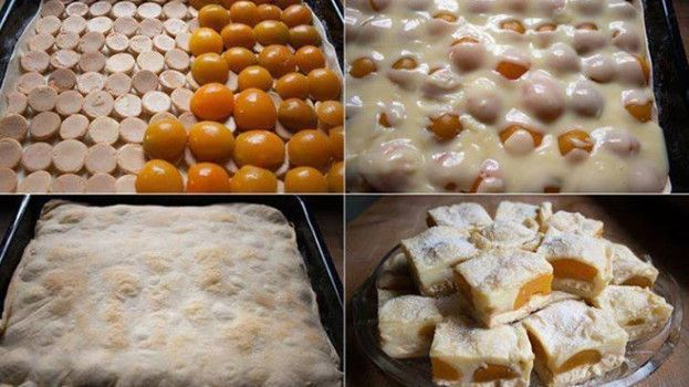 Rýchly marhuľovo-pudingový koláč