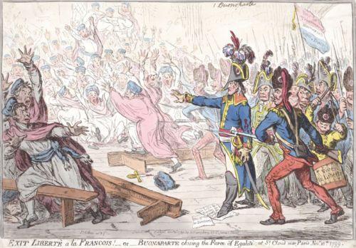 1799-British-satirical-depiction-of-Napoleon-closing-the-farce-of-egalite-print