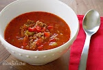 When I lived in Akron, Ohio, one of really old diners on Main Street served the Stuffed Pepper Soup.  I cannot tell you how much I truly love this, however, I am a fan already of tomato soup so that is probably why!