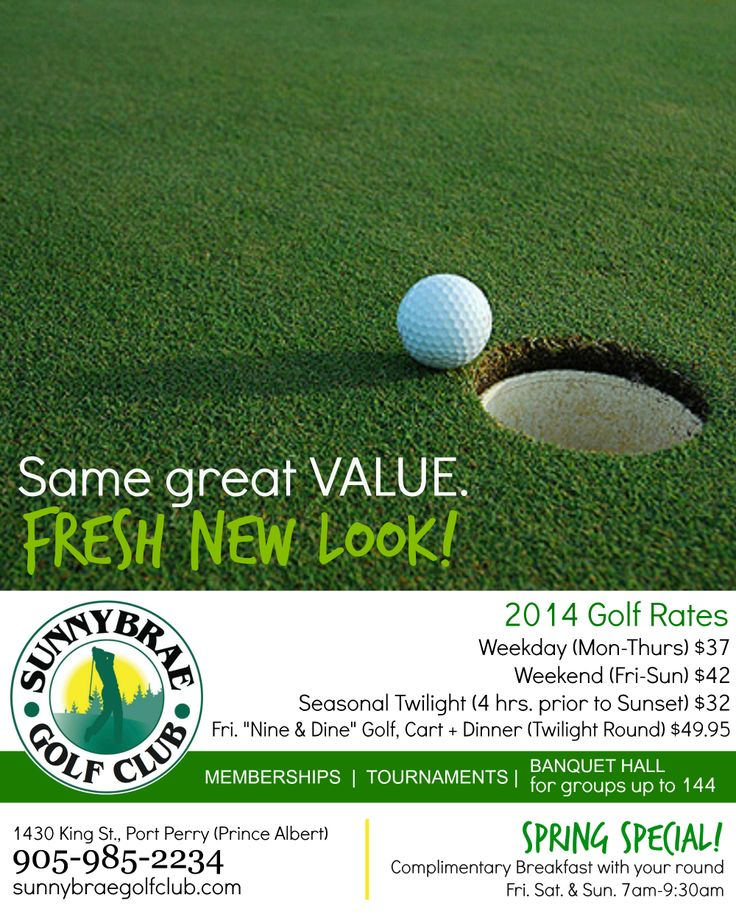 "Welcome back the NEW Sunnybrae Golf Club! Voted Durham's ""Best Golf Value."" New, experienced Owners bring you 3 gorgeous courses {Meadow 