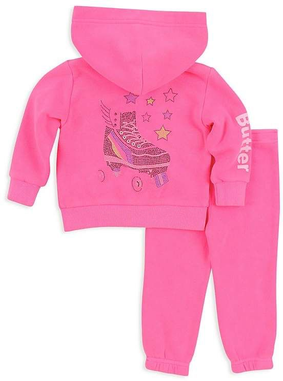 ba289b624bc4 Butter Girls' Embellished Roller Skate Hoodie & Sweatpants Set - Little Kid