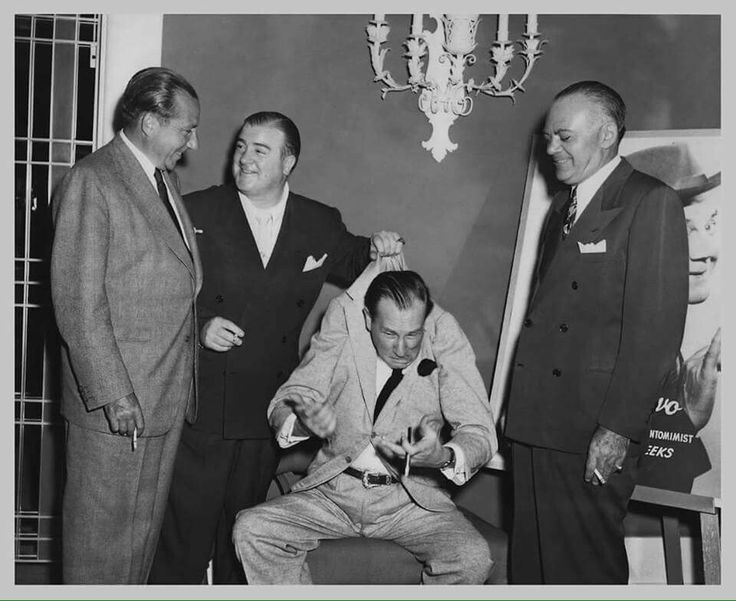 Frank Costello with comedians Abott and costello