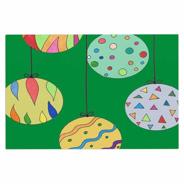 """Rosie Brown """"Trim The Tree Green"""" Multicolor Decorative Door Mat"""