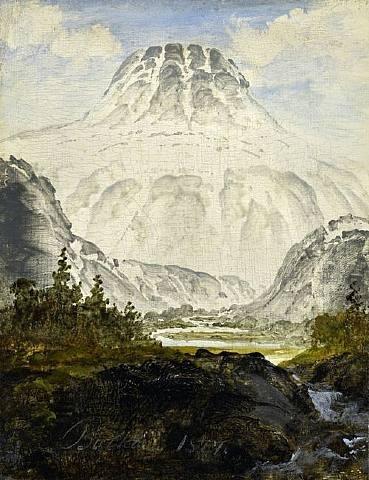 Peder Balke (1804-1887): Gausta Peak, 1877