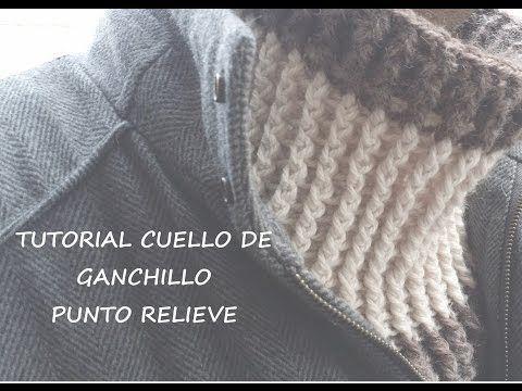Cuello de lana a ganchillo ( crochet ) - YouTube
