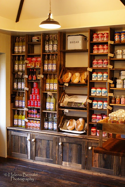 shelving and display for farm store
