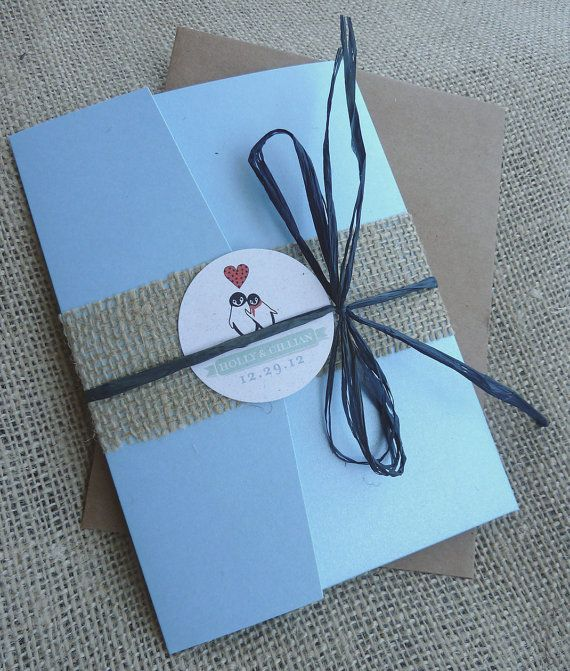 Penguin Winter Wonderland Wedding Invitation by designunfurls, $6.00