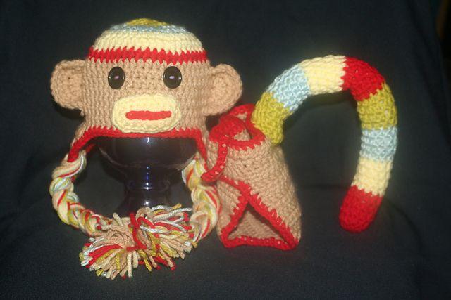 Ravelry: Rainbow Monkey Photo Prop pattern by Sarah Tompkins