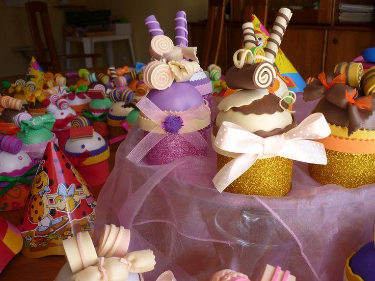 Brindes Cupcake em musgami