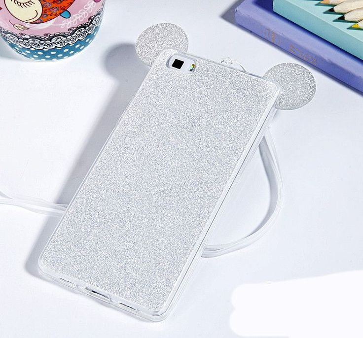 3D Mickey Minnie Mouse Ears Silicone Glitter Gradient Case for Huawei P8 P9 Lite Honor 4C Pro 4X 5X Case Cover phone cases