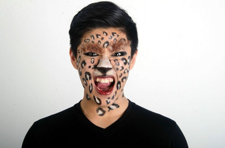 High fashion makeup leopard