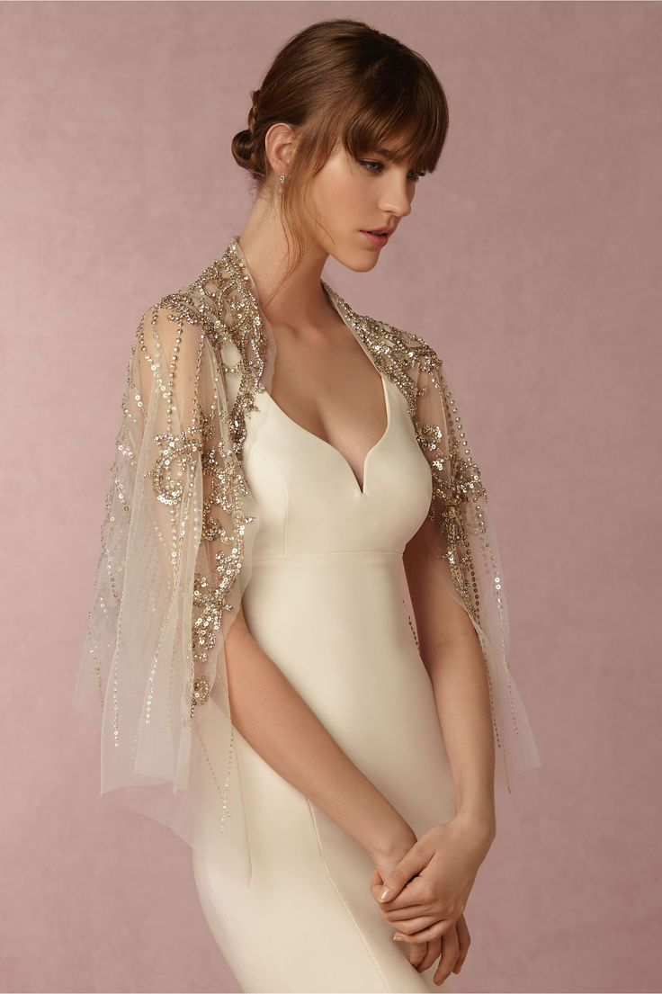 £434.22 BHLDN Cassiopeia Topper in  Shoes & Accessories Cover Ups at BHLDN