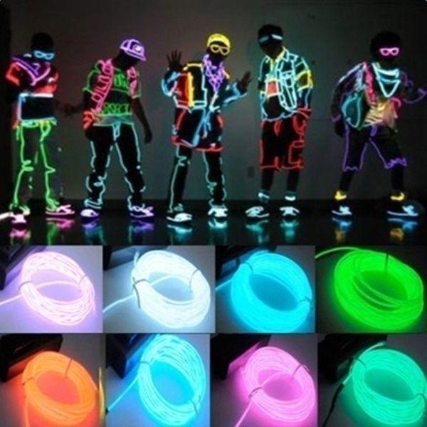3m 5m Wasserdichter Neon Led Streifen Licht Tanz Party Dekoration Licht Neon Led Lampe Flexible El Draht In 2020 Glow Stick Party Led Neon Lighting Glow Party Supplies