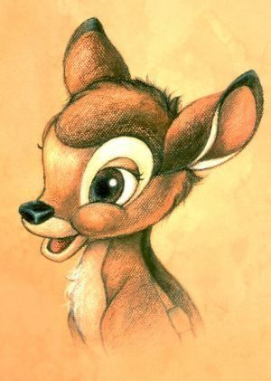 Aww Bambi...:) This was the first movie I always wanted to watch as a kid despite the fact that it always made me cry.X,D