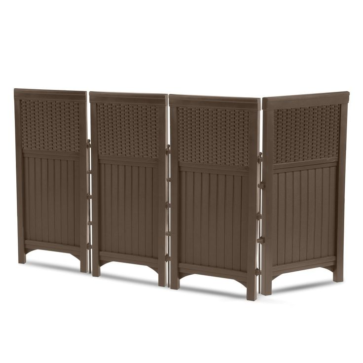 Suncast Resin 4-Panel Outdoor Screen Enclosure - Mocha Brown - A beautiful and contemporary way to hide trash cans, air conditioners, and more, the Suncast Resin 4-Panel Outdoor Screen Enclosure - Mocha Brown,...