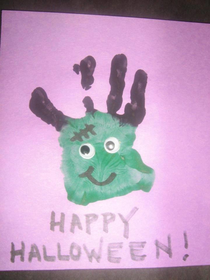 a fun halloween hand print art project from a kindercare toddler happyhalloween decor