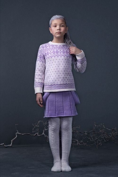 Nordic sweater and suspenders skirt for colder days by Mole Little Norway <3