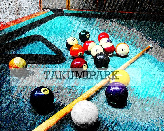 This Pool Table Wall Art Is A Photo Print. It Would Be A Nice Gift