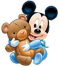 Baby Mickey w/Bear