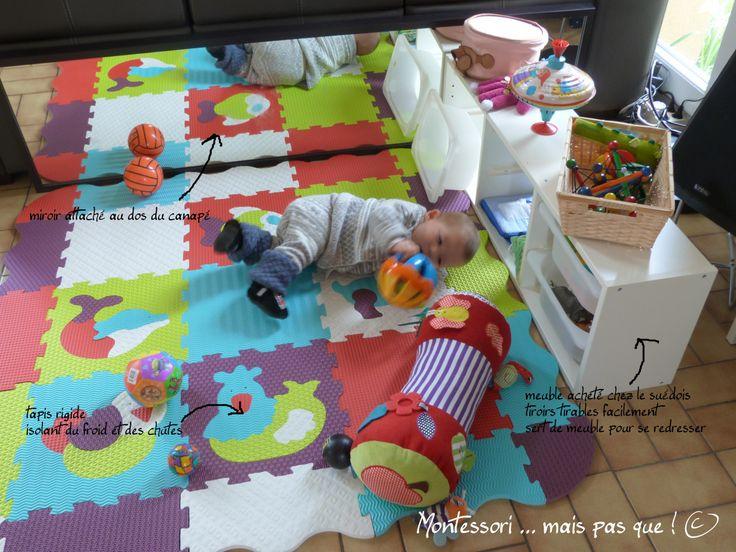 17 meilleures id es propos de montessori salle de jeux - Amenagement chambre montessori ...
