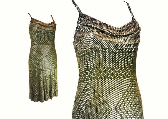 Rare Art Deco 1920s Assuit flapper dress made from the finest quality antique Assuit cloth with geometric Egyptian Revival patterns in the
