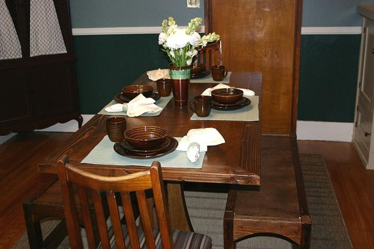 HGTV.com offers step-by-step instructions for building a Craftsman dining table from a reclaimed door.